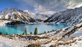 Big Almaty Lake in Zaili Alatau royalty free stock photography