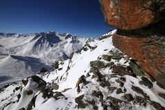 Big Almaty peak stock image