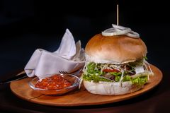 Big American burger stock photography