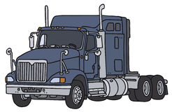 Big american truck. Big american towing truck, vector illustration, hand drawing Stock Illustration