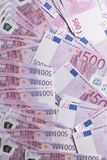 Big amount of Five hundred notes of European Union Currency. Background Stock Photography