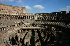 Big amphitheater in Rome. Spectacular and unique arena in Rome thats see glory, pride and pain Royalty Free Stock Photos