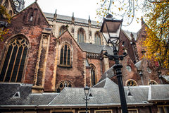 Big ancient church in Haarlem Stock Photography