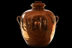 The big ancient copper jug separately Stock Photography