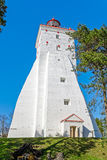 Big ancient tall white lighthouse in Kopu Royalty Free Stock Photo