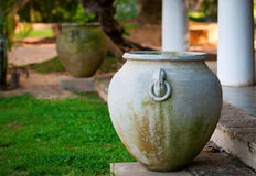 Big ancient vase in greek style Stock Photography