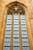 Big ancient window. Big ancient decorated window on the church Royalty Free Stock Photography