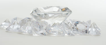 Free Big And Little Diamonds Royalty Free Stock Photo - 52442225