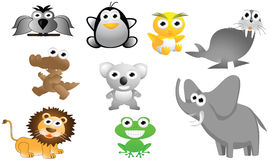 Big animal cartoon set Stock Images