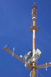 Big antenna. Big radio tv antenna on the blue sky Stock Photography