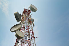 Big Antenna Communication Tower Technology. Of Thailand southeast asia Royalty Free Stock Image