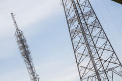 Big Antenna Tower of  Broadcasting TV and Radio Stock Photos