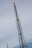Big Antenna Tower of  Broadcasting TV and Radio Stock Image
