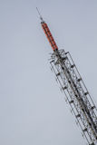 Big Antenna Tower of  Broadcasting TV and Radio Royalty Free Stock Photos