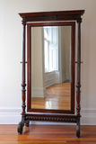 Big antique mirror Stock Photo