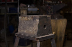 Big Anvil in smith workshop Stock Photography