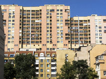 Big apartment block in Sofia, Bulgaria. Big apartment block in Sofia Royalty Free Stock Photo