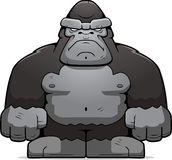 Big Ape. A big cartoon ape looking angry Royalty Free Stock Image