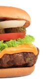 Big appetizing hamburger. Royalty Free Stock Images