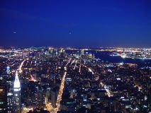 The Big Apple. An aerial view of New York City at night Stock Photo