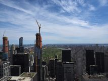 New York City in construction royalty free stock photography