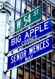 Big Apple corner, New York Royalty Free Stock Images