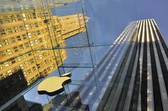 Big apple glass architecture and design Stock Photography