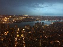 Big apple. Manhattan from empire building Stock Images