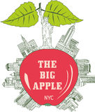 The Big Apple, New York City Royalty Free Stock Image