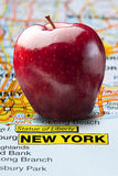 Big Apple New York Map Nickname Royalty Free Stock Photography