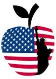 Big apple statue of liberty Stock Image