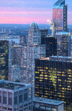 Big Apple Straight After Sunset - New York City at Night Stock Photo