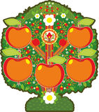 Big Apple Tree Isolated Royalty Free Stock Image