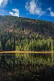 Big Arber Lake during fall in National Park Bavarian Forest - Germany Royalty Free Stock Image