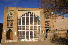 Big arc and brick dome. Old building in Qazvin, Iran Stock Image