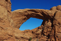 Big arch in Arches National Park, Utah Royalty Free Stock Photography