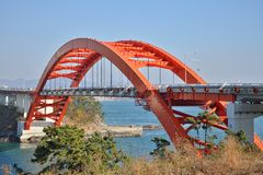 Big Arch Bridge in Samcheonpo Stock Photos