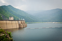 Big area for keep water on Bhumibol dam Royalty Free Stock Photo
