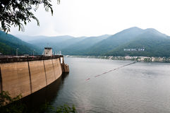 Big area for keep water on Bhumibol dam Royalty Free Stock Images
