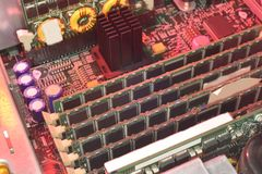 Big array of server RAM Stock Photography