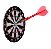 Big arrow on dart board Royalty Free Stock Photo