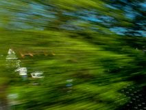 Big art shot from a moving train stock photography