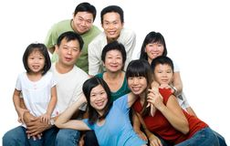 Big Asian family stock photo