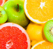 Big assortment of fruits Stock Images