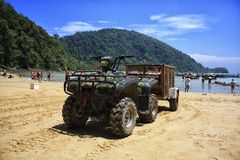 Big ATV on the beach Royalty Free Stock Photography
