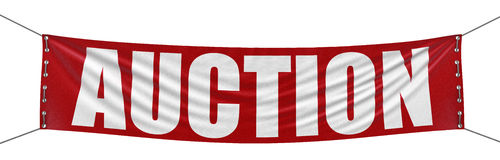 Big auction Banner Royalty Free Stock Photography