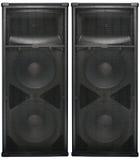 Big Audio speakers isolated on white Royalty Free Stock Image