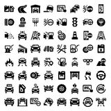 Big auto icons set Stock Photo