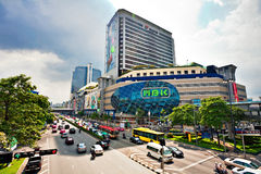 Big automobile stopper near. The shoping centre on one of the central streets of Bangkok on 25 November 2009. The basic problem of the Asian megacities is the Stock Photography