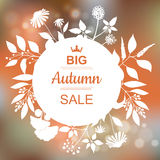 Big Autumn Sale Banner Stock Photography